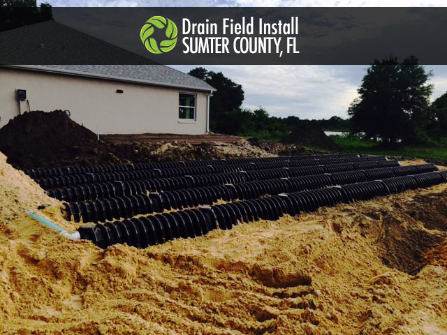 Drain field install in Sumter County, FL on a private ranch.